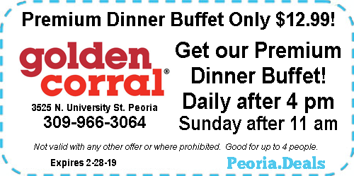Peoria Coupons For The Week Of January 28 2019 Peoria Deals